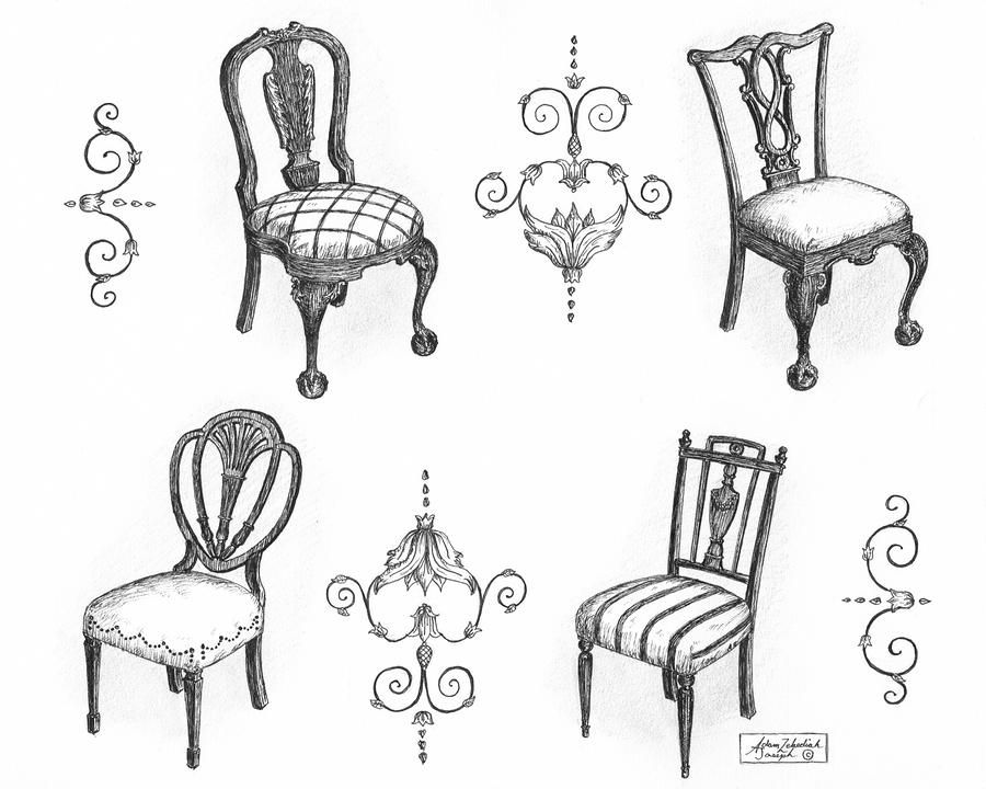 18th Century English Chairs By Adam Zebediah Joseph In 2020 Chair Drawing Chinoiserie Decorating Art Chair