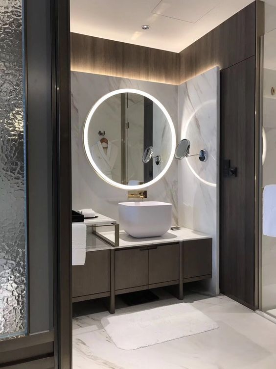 Follow City Girl At Link Https Www Pinterest Com Citygirlpideas For Great Pins And R Contemporary Bathroom Vanity Bathroom Interior Design Modern Bathroom