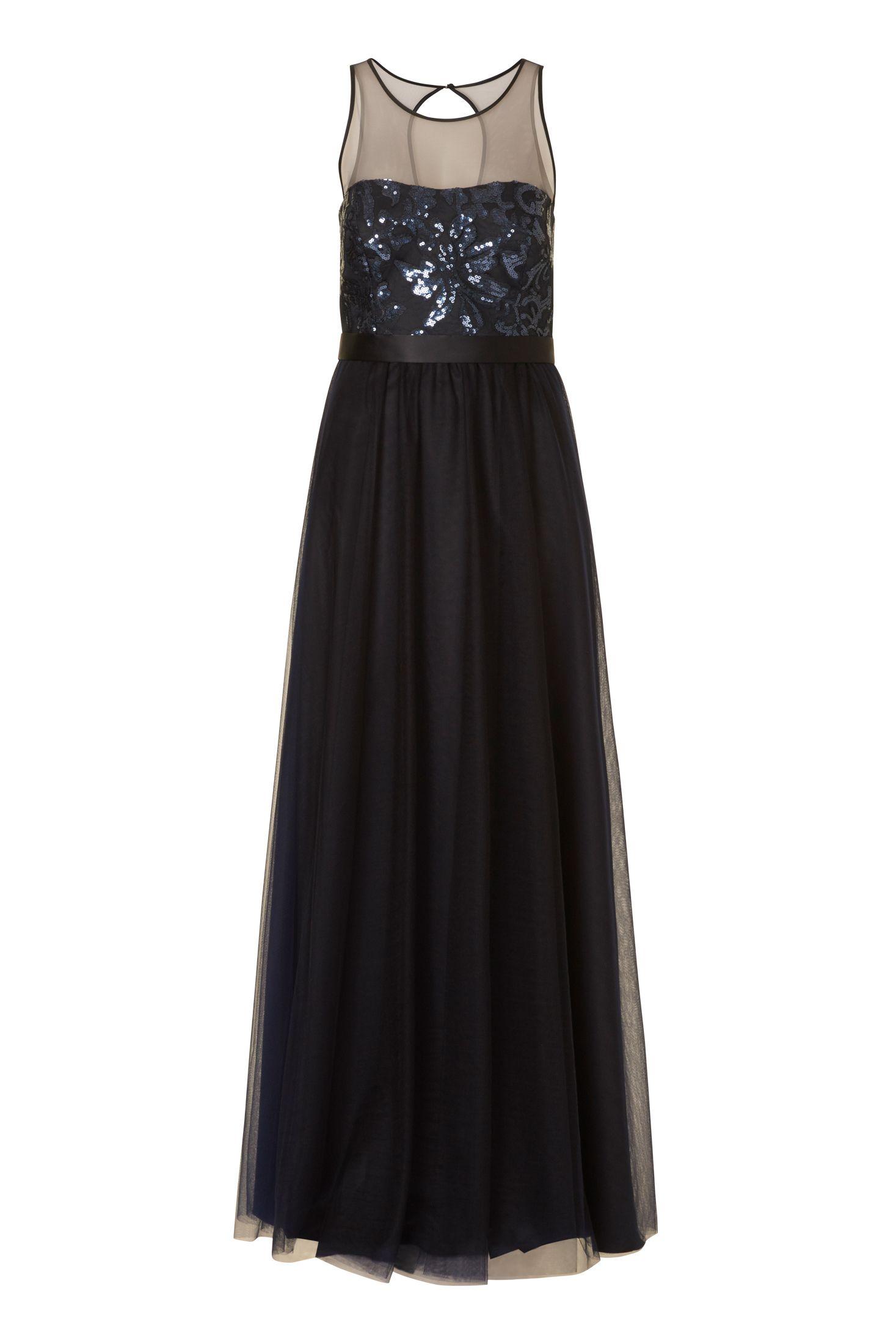 Rückenfreies Abendkleid aus in Dunkelblau von Vera Mont ...