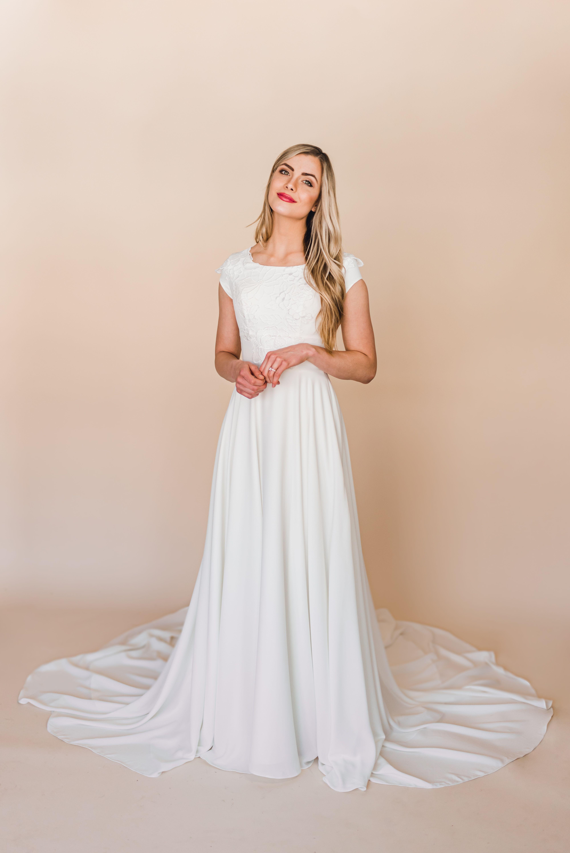 Jane gown by Elizabeth Cooper Design modest wedding