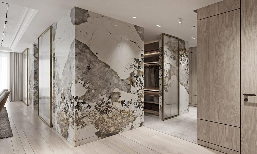 Magnificent Modern Marble Interior With Metallic Accents | Marble interior,  Large bathroom design, Interior design furniture