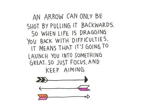 Arrow Quotes Life Pleasing An Arrow Can Only Be Shotpulling It Backwards So When Life Is