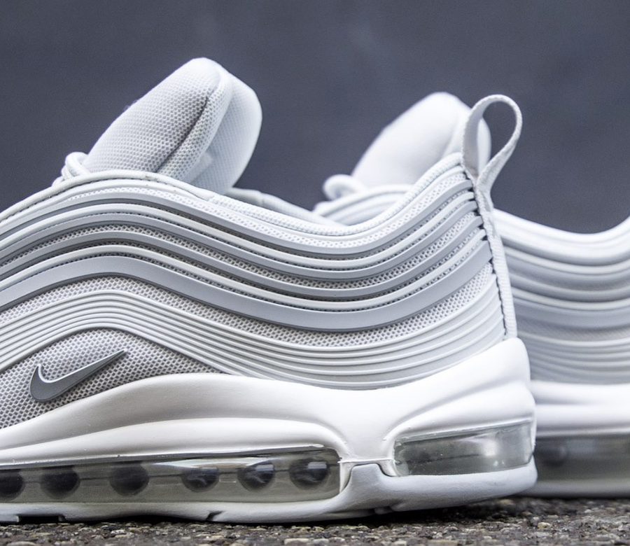 2e4587e80b6e59 A look at the upcoming Nike Air Max 97 Ultra in the Pure Platinum colorway.
