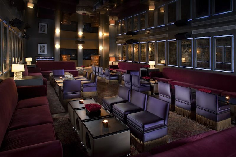 B bar is the hotels underground speakeasy with a reflective ceiling state