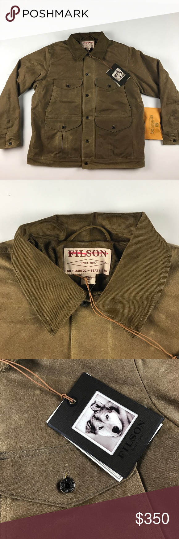 7a25bcc5c New Filson Insulated Journeyman Jacket Dark Tan New, comes with ...