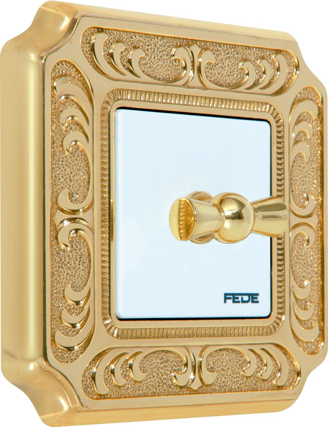 Gold Switch Plates Siena Collection Bright Gold Fd01351Ob  Fede Switch Toscana