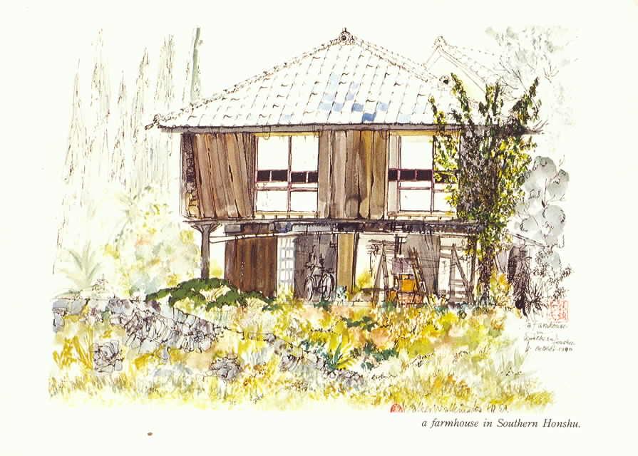 Cleve Walker Walkington, a farmhouse in Southern Honshu