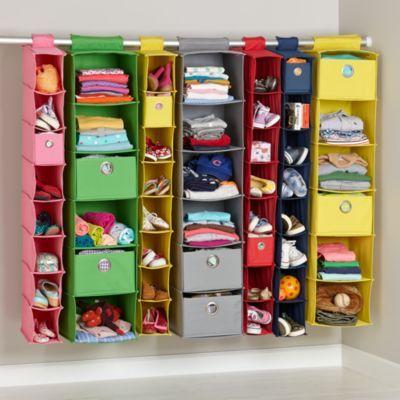 I Think I Canvas Hanging Closet Organizers Kids Shoe Storage