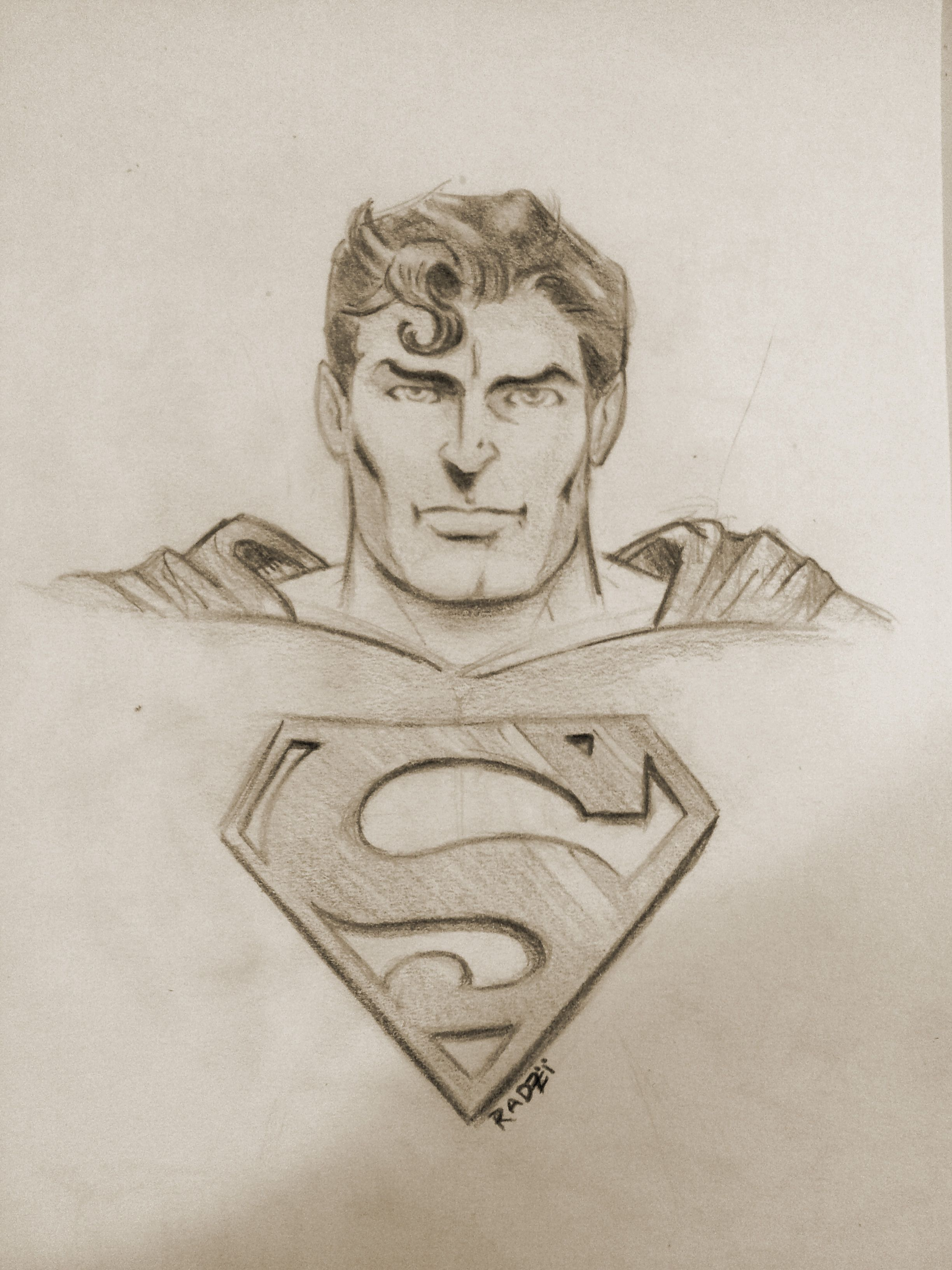Superman dc comics dc illustration sketch pencil