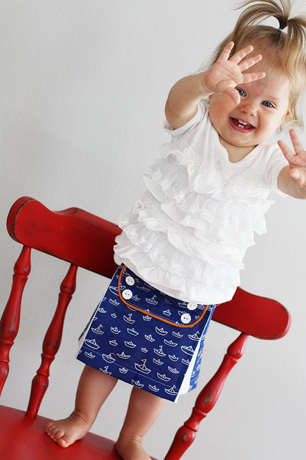 Baby Sailor Skirt Tutorial by Sew Much Ado | Patterns | Pinterest ...