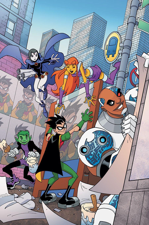 Teen Titans Go 55 Cover Art By Todd Nauck  Teen Titans -3647