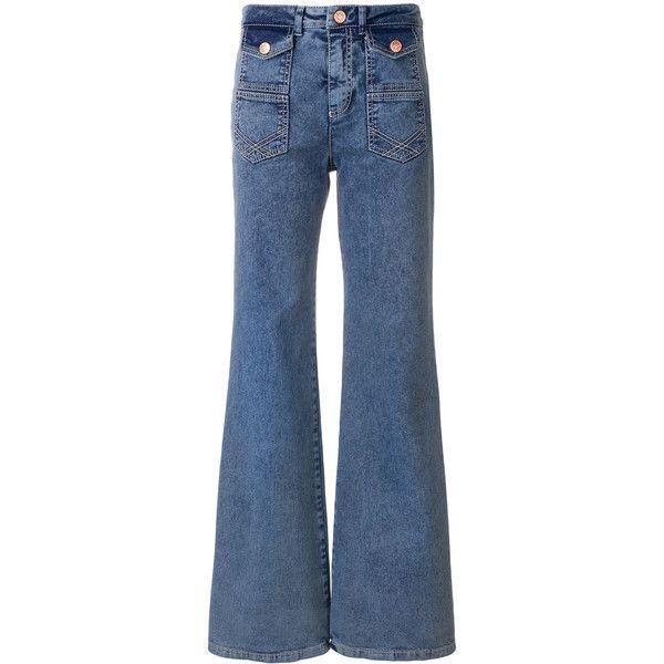 flared jeans - Blue Chlo gqJuPtD