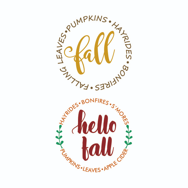 Hello Fall Cuttable Design Hello autumn, Design, Word art
