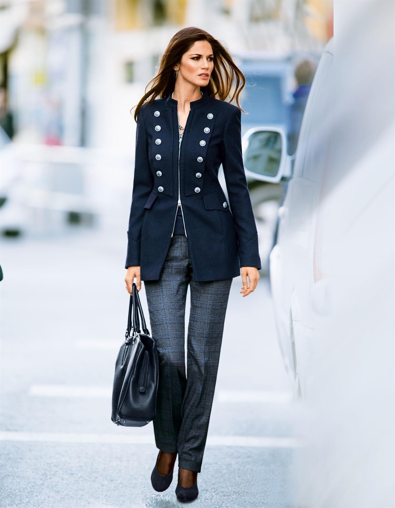 Glencheck-Hose in der Farbe kariert - blau - im MADELEINE Mode Onlineshop