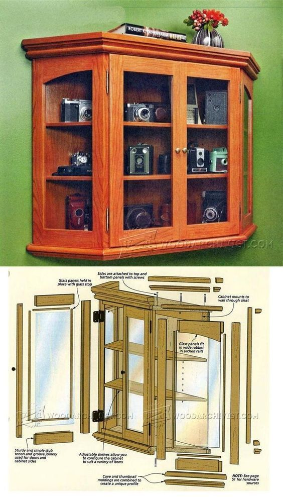 Elegant Curio Plans Furniture Plans and Projects