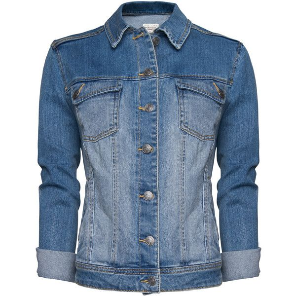 MANGO Light washed denim jacket ($70) ❤ liked on Polyvore featuring outerwear, jackets, tops, denim jackets, medium denim, blue jackets, blue denim jacket, mango jacket, denim jacket and jean jacket