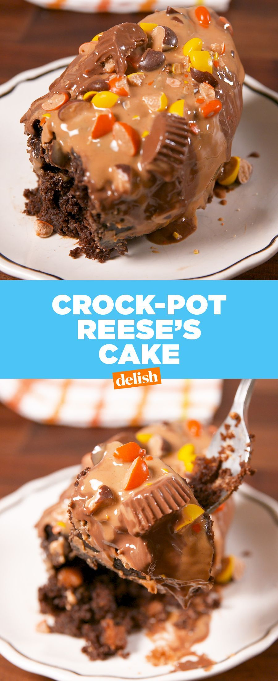 Crock Pot Reese S Cake Recipe Crock Pot Desserts Reeses Cake