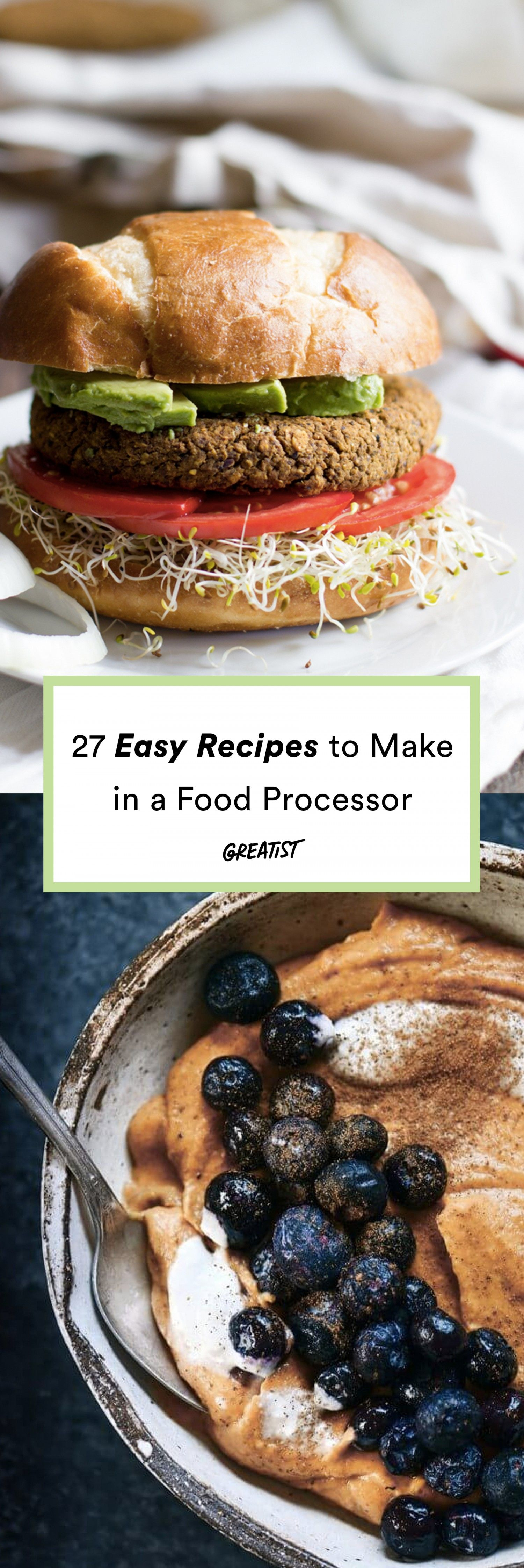 27 Food Processor Recipes That Will Motivate You to