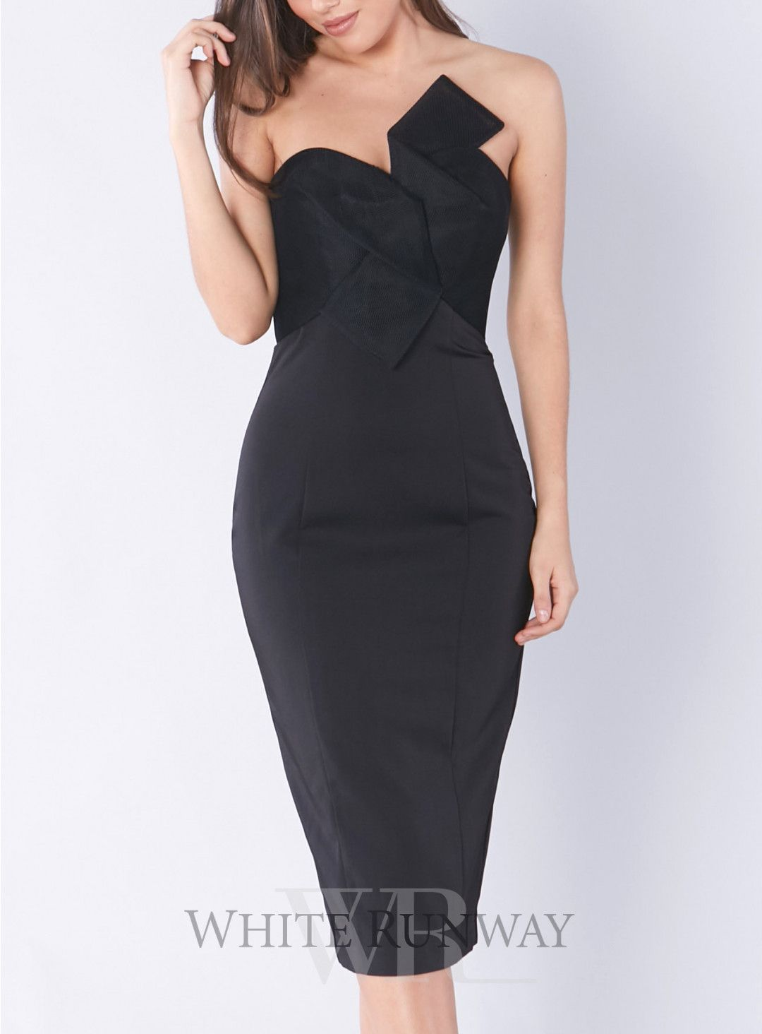 Evaleena Cocktail Dress A Stunning Lbd By Jadore A Fitted Strapless Style Featuring Mesh Detailing On The Bust Dresses Jadore Dress Little Black Dress [ 1464 x 1080 Pixel ]