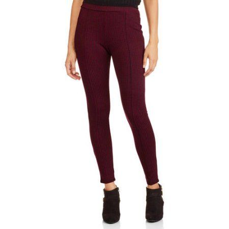 1f3475037ae64f Faded Glory Women's Pull-On Ponte Legging with Front Seaming, Size: Medium,