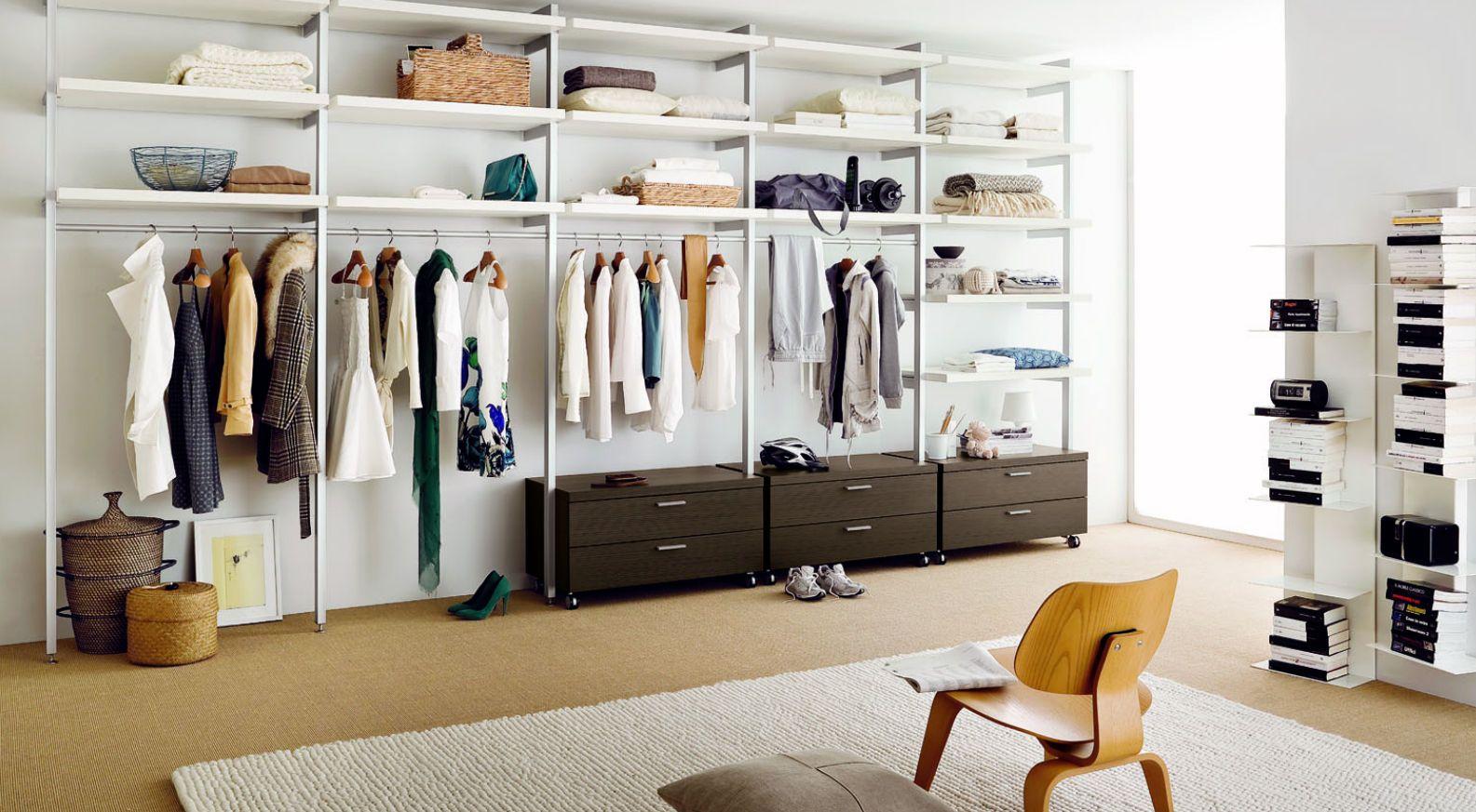 Offener kleiderschrank selber bauen  Begehbarer Kleiderschrank - KLOSET K01 - md house | begehbarer ...