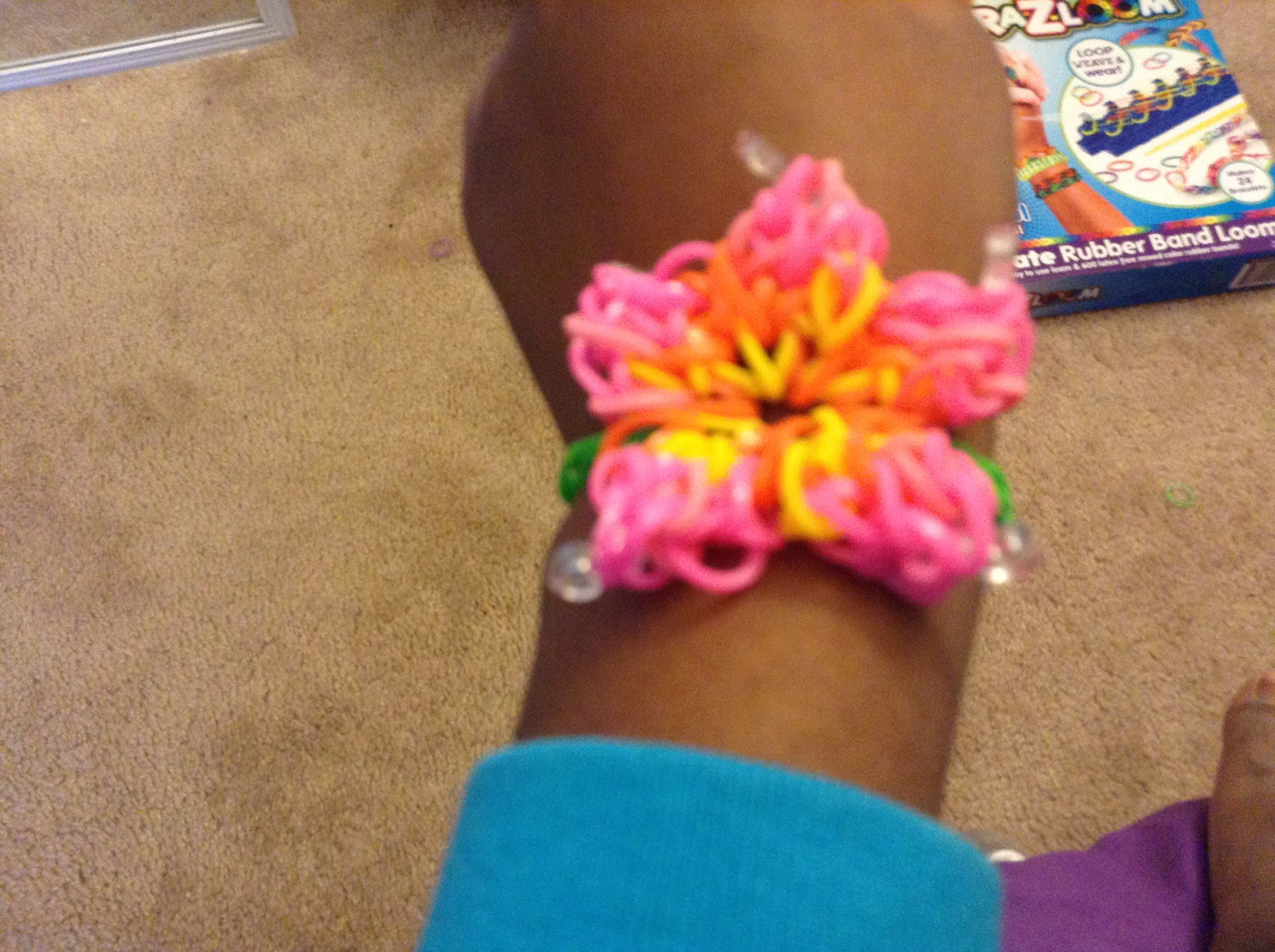 youtube loom watch bracelet rose hibiscus rainbow garden