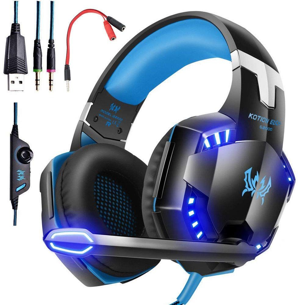 3 5mm Gaming Headset Mic Led Headphones Stereo Surround For Pc Ps4 Xbox One 360e Us Ship Gaming Headphones Ps4 Gaming Headset Gaming Headset