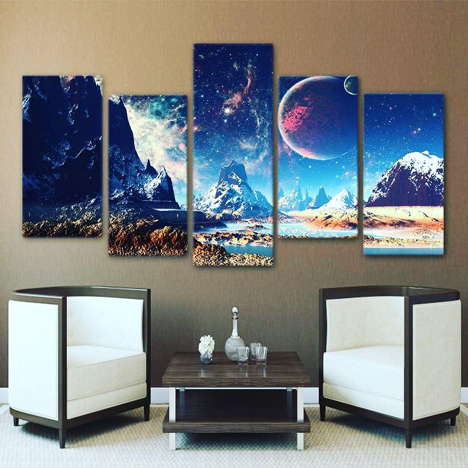 Splendid Mountains Landscape Canvas Painting Art Print Living Room Wall Decor US