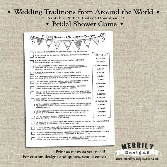 Wedding Traditions From Around The World, Bridal Shower
