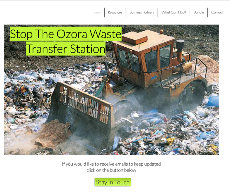 Community Spotlight Stop The Waste Transfer Station On Ozora Road