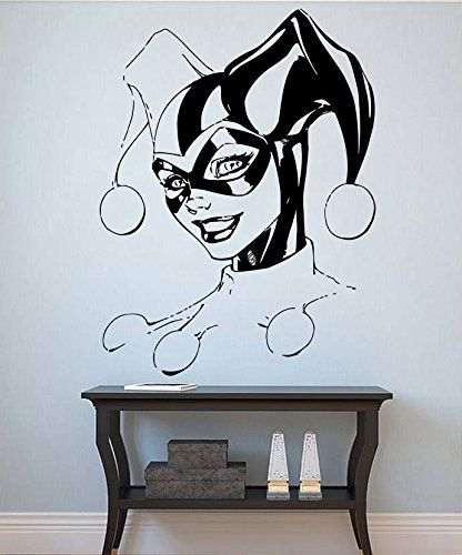 Harley Quinn Wall Sticker Harley Quinn Vinyl Stencil Comics Wall