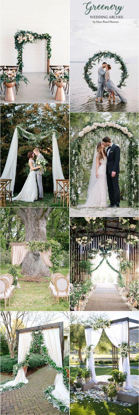 45 Amazing Wedding Ceremony Arches and Altars To Get Inspired Boda - bodas sencillas