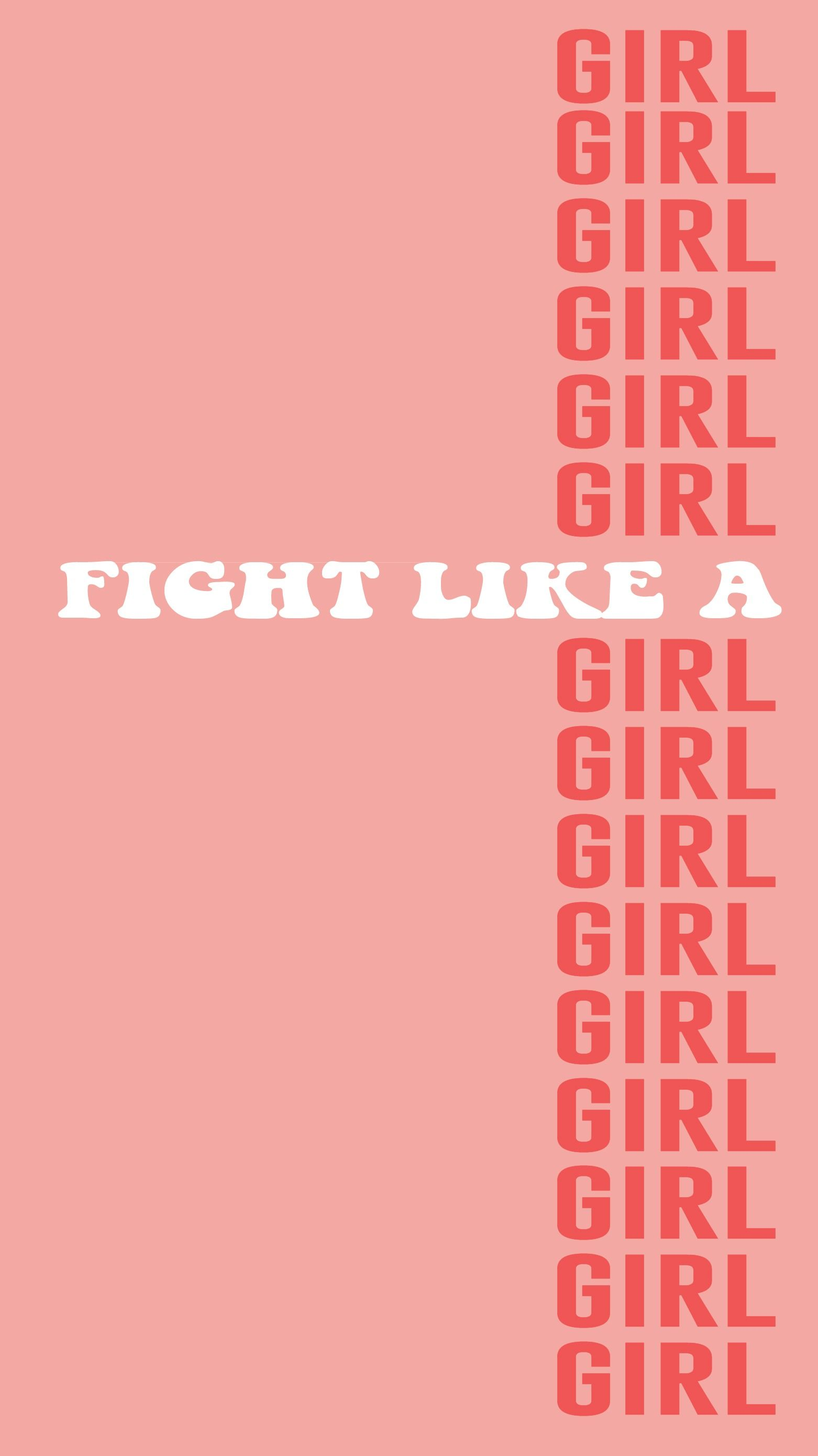 Fight Like A Girl Mobile The F Word Gift Shop Desktop Wallpaper Mobile Wallpaper Phone Wallpaper Screen Coral P Girls Be Like Fight Like A Girl Fight