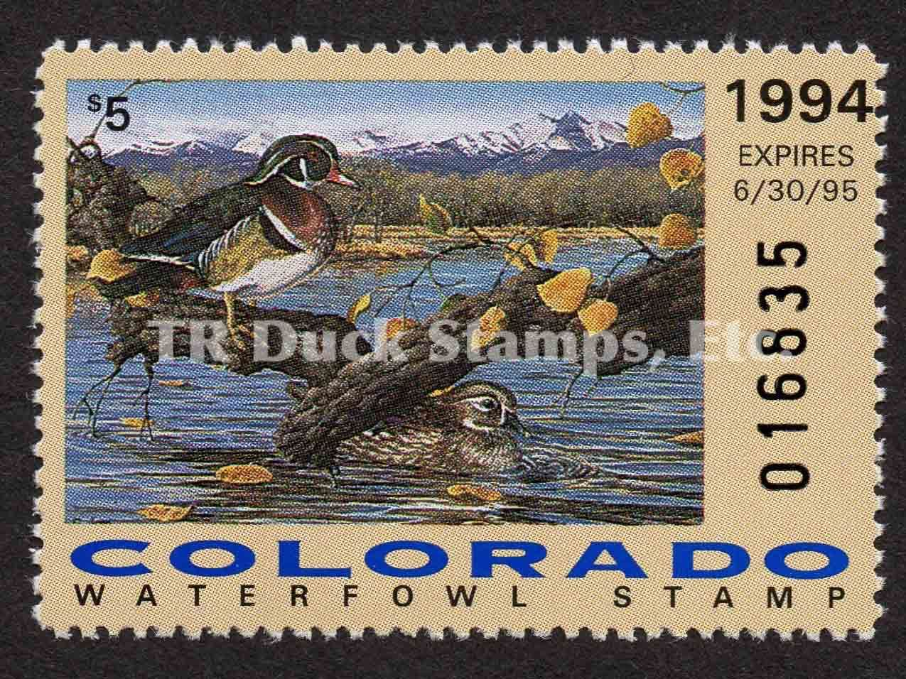 CO5 1994 Wood Ducks Wood, Sarah wood, Stamp