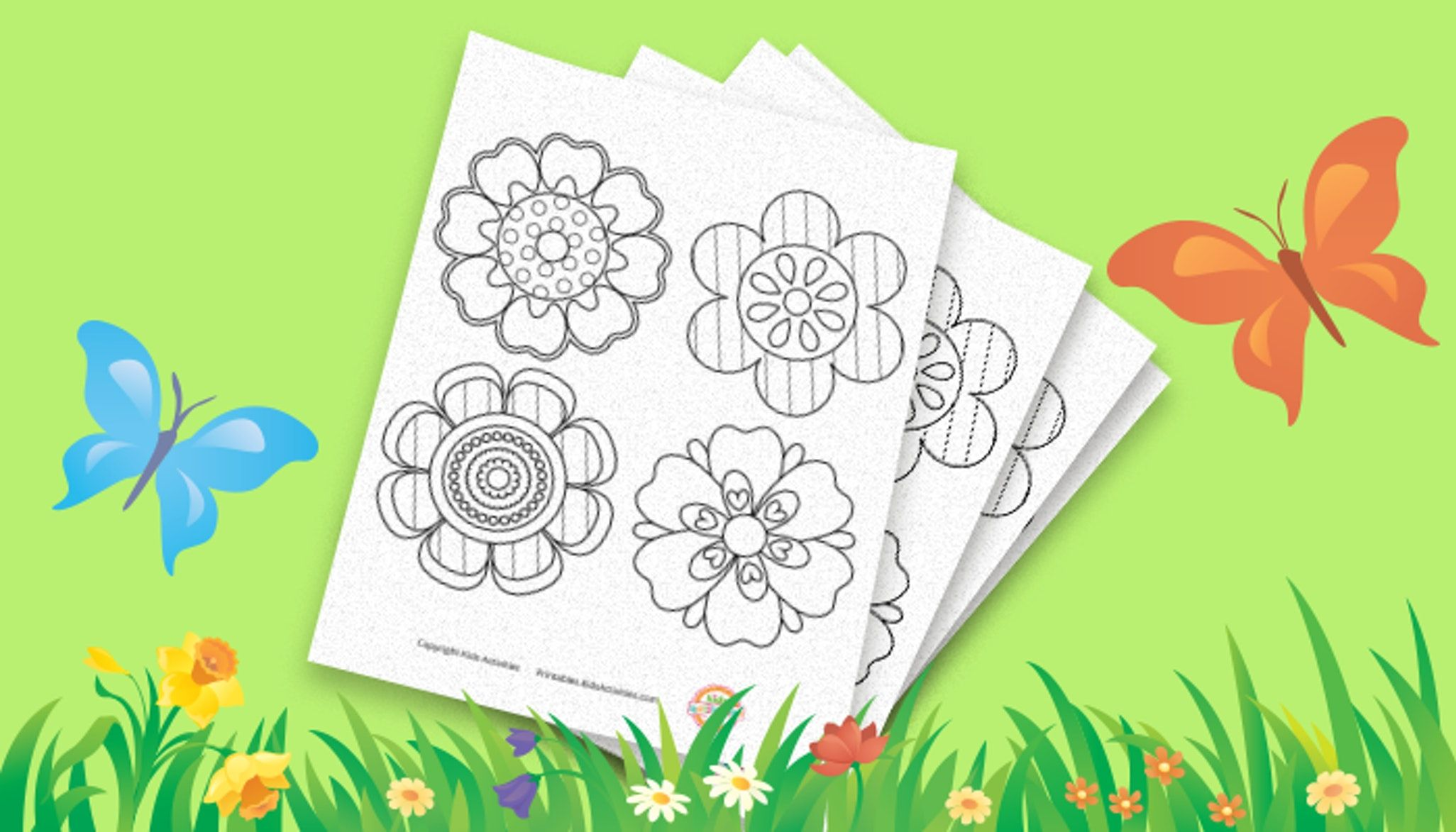 Flower Coloring Page For Spring