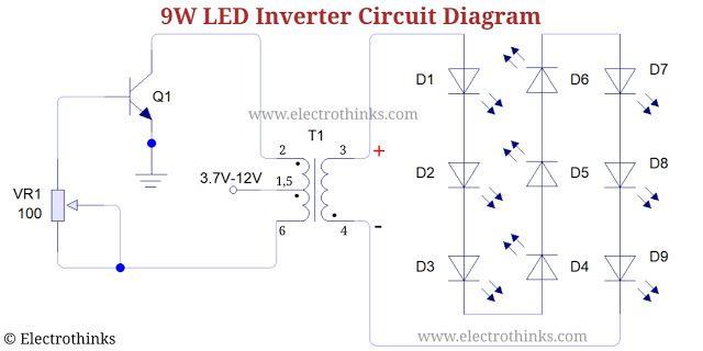 9w Led Inverter Circuit Diagram In 2020