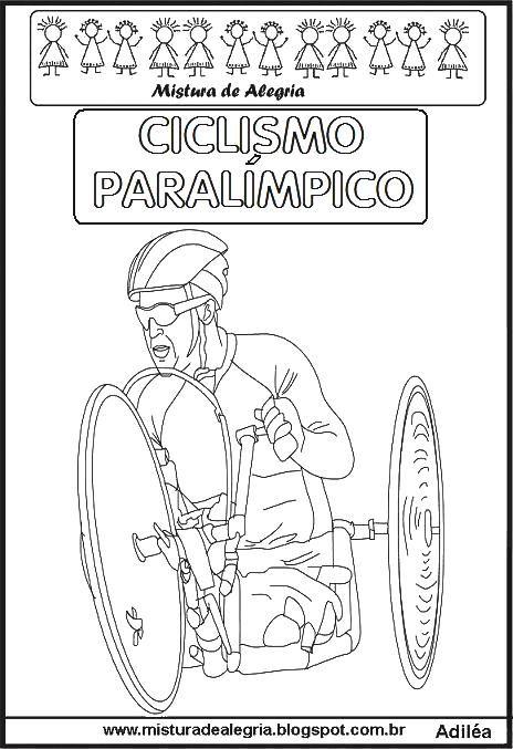 Ciclismo Paralimpico Imprimir Colorir Jpg 464 677 Jogos