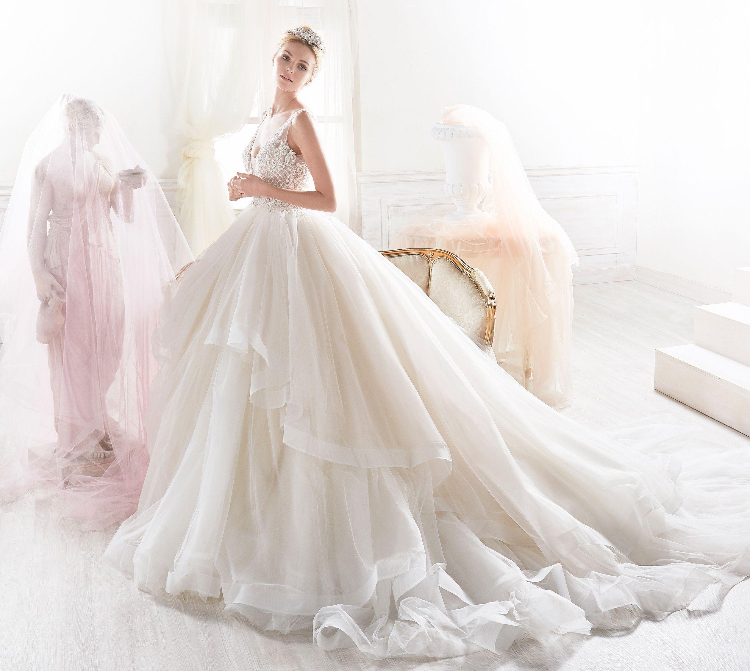 Moda sposa 2018 - Collezione NICOLE. NIAB18114. Abito da sposa ...