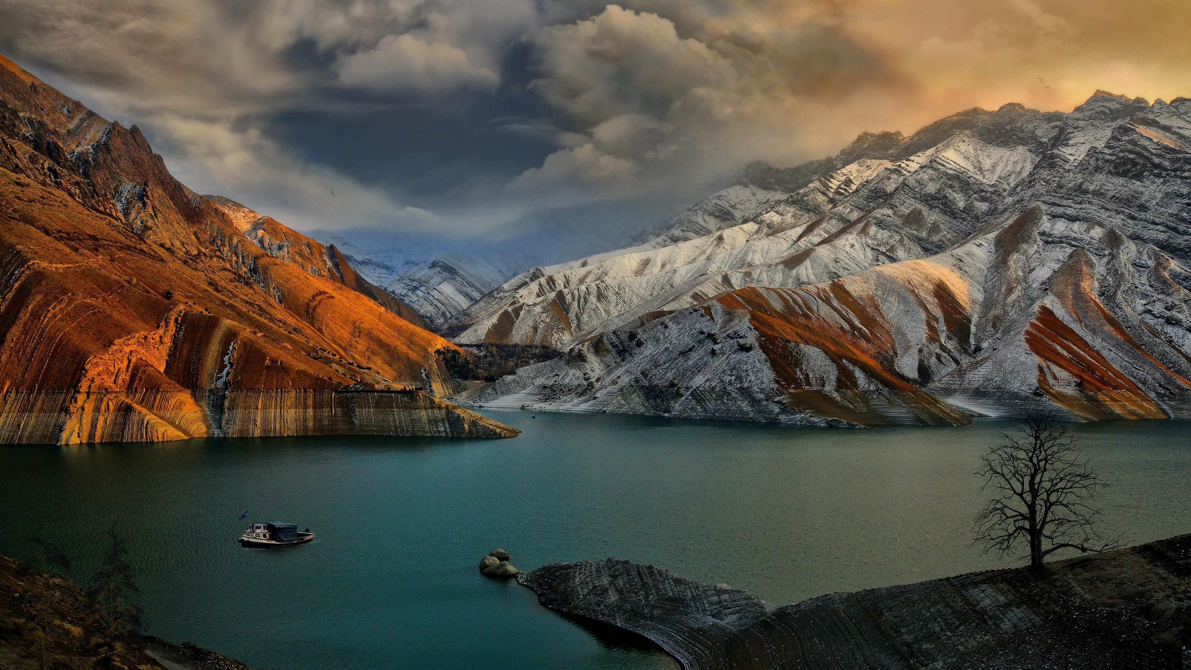 While We Re At It Iran Is Also Beautiful Amir Kabir Dam Lake Landscape Landscape Wallpaper Natural Scenery