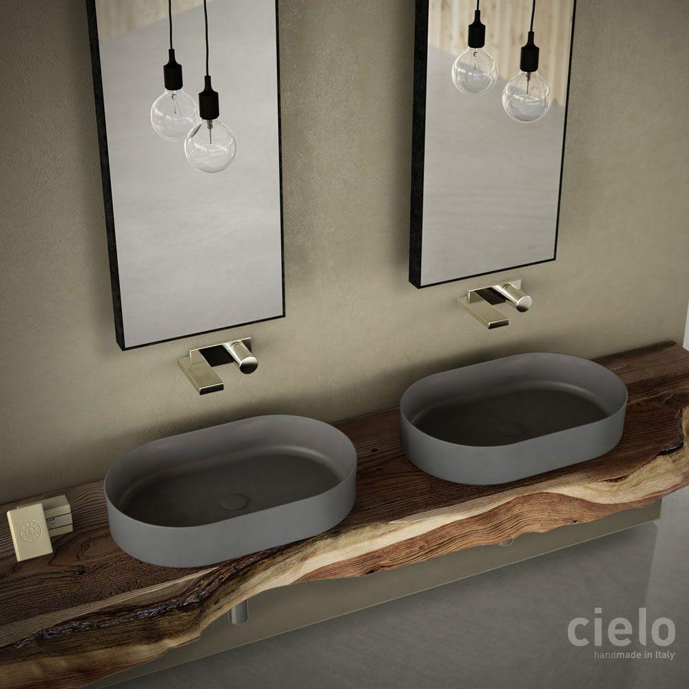 lavabo ovale 60 colorato brina shui comfort - lavabo colorato da ... - Arredo Bagno Cielo