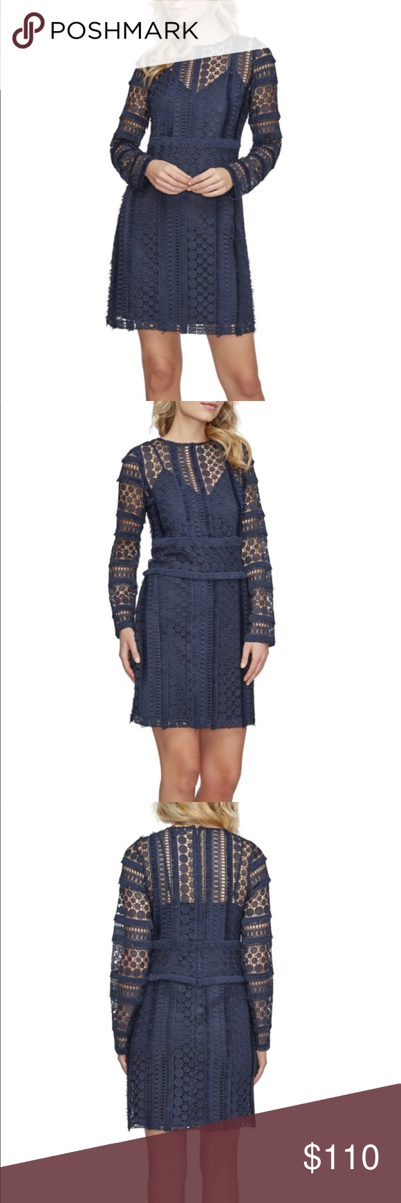 9bebd5568c1e9 Sam Edelman size 14 navy lace shift dress NWT Brand new with tags. Navy