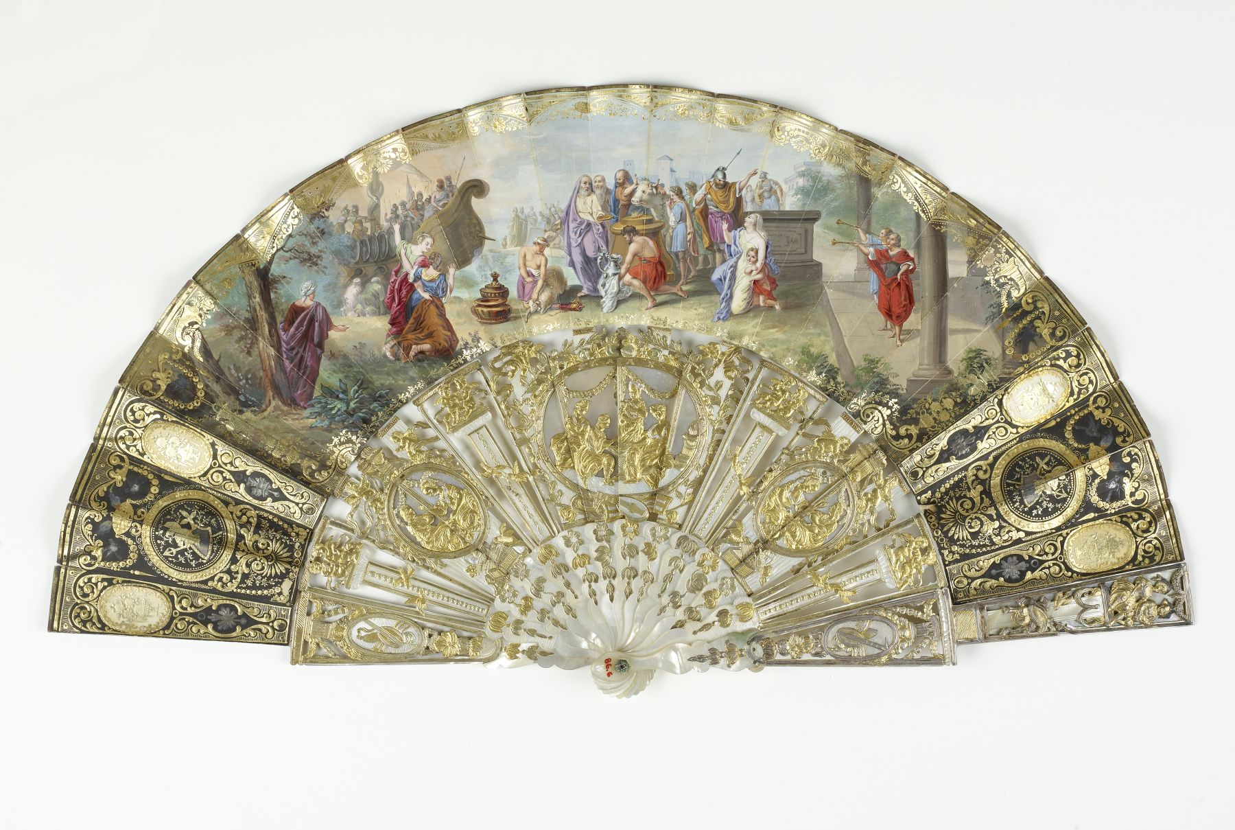 french fans | File:French - Folding Fan and Case - Walters 866 - Back.jpg