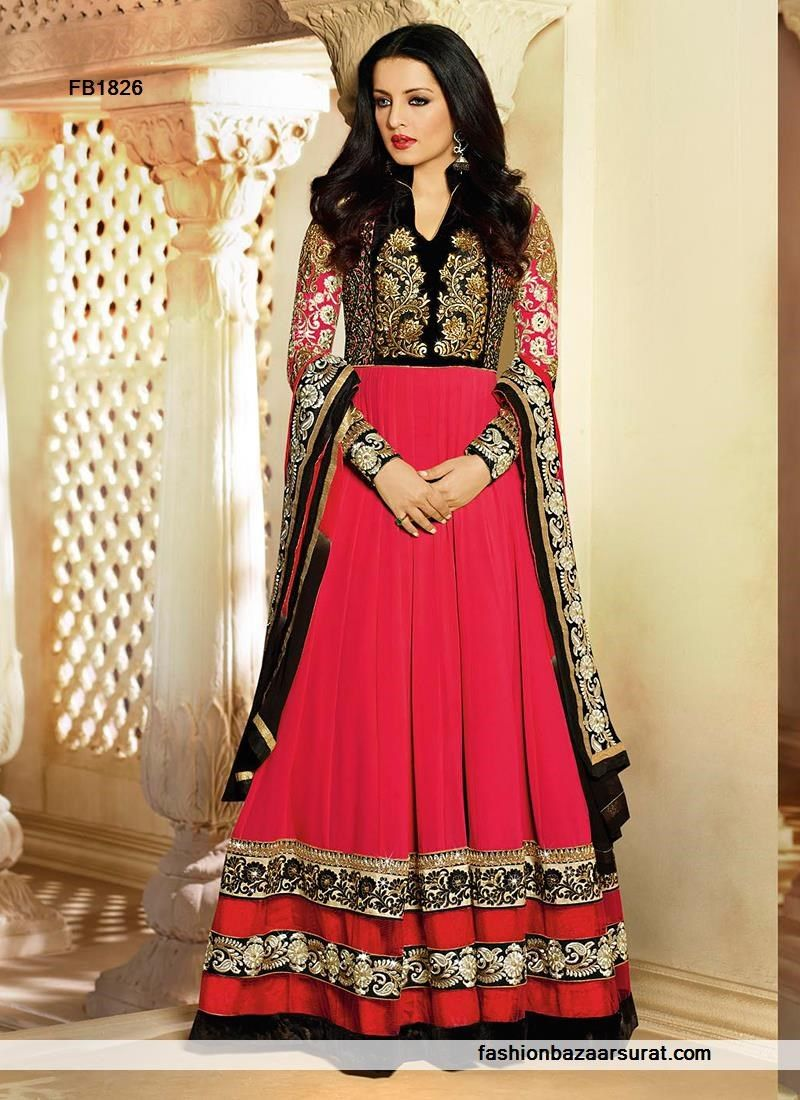 Celina jaitly hot pink anarkali suit buy indian salwar suits