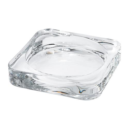 Glasig Plat Pour Bougie Verre Transparent 10x10 Cm Candle Dish