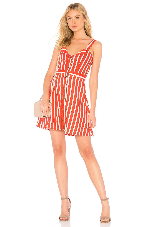 8e047804b259 FAITHFULL THE BRAND Le Petite Dress in Tangerine Mazur Stripe | My ...