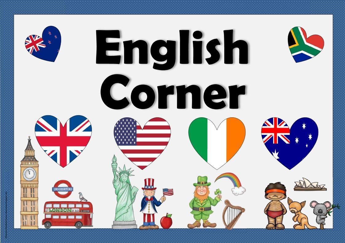 Englisch in der Grundschule: Schild für die Englischecke | Englisch ...