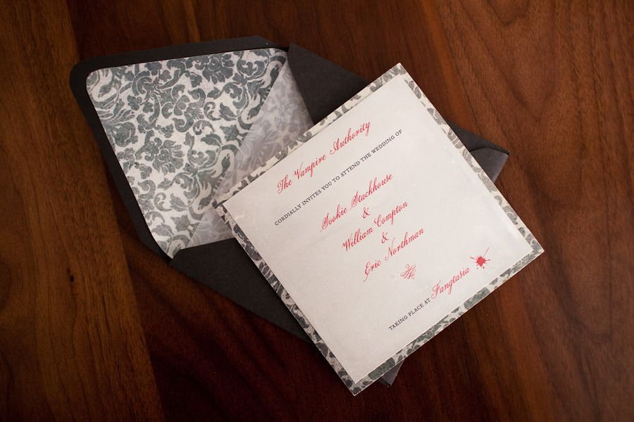 True Blood Wedding Invitation Photo By Casey Fatchett Www
