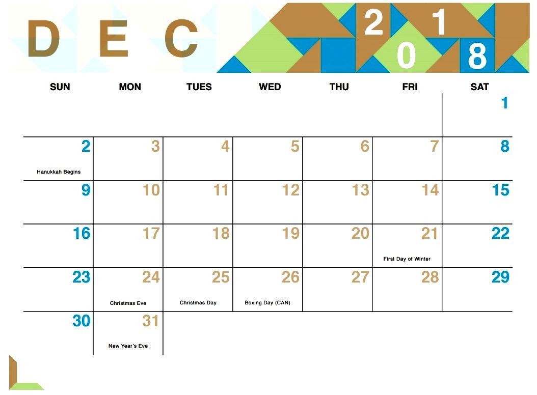 printable december 2018 calendar wedding event planner