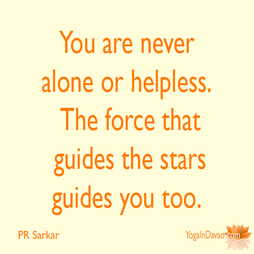 Yoga In Davao Quote You Are Never Alone Quotes Quotes