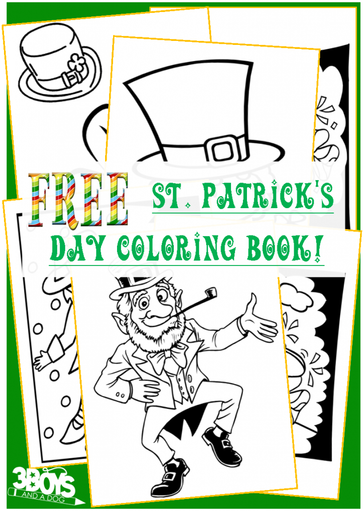 Free Saint Patrick\'s Day Coloring Book